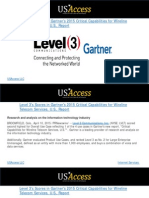 Level 3's Scores in Gartner's 2015 Critical Capabilities for Wireline Telecom Services, U.S., Report