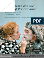 Robert Weimann, Douglas Bruster Shakespeare and the Power of Performance_ Stage and Page in the Elizabethan Theatre 2008