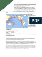 El cinturón de fuego es un conjunto de fronteras de placas tectónicas ubicado en el pacifico desde las costas de Asia hasta las Américas y reúne la principal actividad sísmica y volcánica del mundo.docx