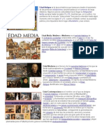 Edad Antigua, Media, Moderna, Etc.