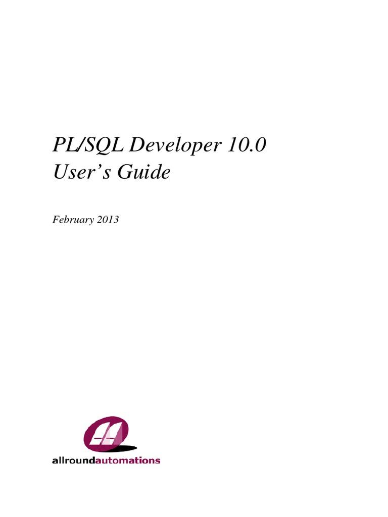 Manual plsql developer 10 plsql sql baditri Choice Image