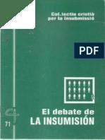 CJ 71, El Debate de La Insumisión - Col. Lectiu Cristiá Per La Insubmissió