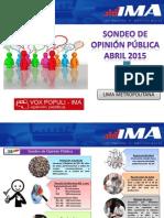 Sondeo de Opinión - Union Civil No Matrimonial