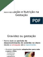 Nutrição humana na gestação Gestação
