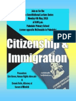 Citizenship and Immigration Flyer 1
