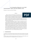 Linear inversion of absorptive/dispersive wave field measurements