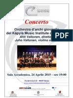 Locandina Concerto 24 Aprile 2015