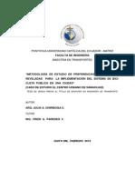 Metodología de Estudio de Preferencias Declaradas y Reveladas para la Implementación del Sistema de Bicicleta Pública en una Ciudad