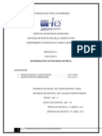 Determinacion Altura Metacentrica ( INFORME # 3. de HIDRAULICA 1)