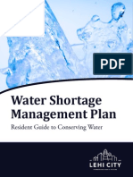 Water Shortage Management Plan 2015