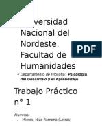 Psicología Del Desarrollo y El Aprendizaje.
