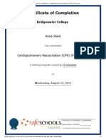 certificate of completion for cardiopulmonary resuscitation (cpr) (full course)a ward