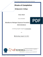 certificate of completion for bloodborne pathogen exposure prevention a ward