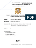 Seguridad de La Informacion y Calidad Del Servicio Del Ingeniero de Sistemas