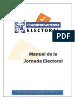 Manual Jornada Electoral Proceso Electoral 2014 2015.
