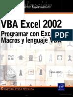 VBA Excel 2002 Programar Con Excel Macros y Lenguaje