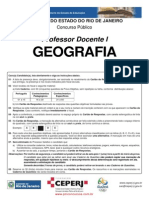 Concurso SEEDUC RJ 2013 - Geografia