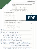 Edexcel S1 - January 2015 (IAL) Model Answers