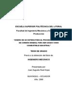 DISEÑO DE UN SISTEMA DE MOLIENDA DE CARBÓN MINERAL .doc