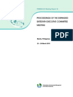 Proceedings of the Expanded Sixteenth Executive Committee Meeting