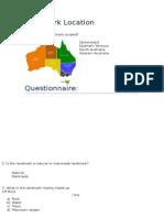 landmark location questionnaire appendix for 6