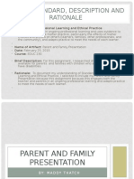 parent and family presentation standard 9