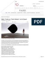 QA Troika on Dark Matter at Art Basel BLOUIN ARTINFO