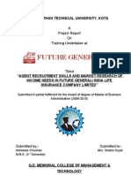 Agent Recruitment--summer Training Report
