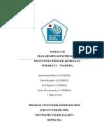 Makalah Manajemen Kostruksi Penutupan Proyek Jembatan Surabaya - Madura