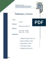 Primer Informe (Mediciones y Errores)