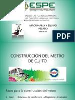 Construcción Metro de Quito.