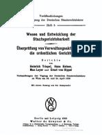Wesen Und Entwicklung Der Staatsgerichtsbarkeit Hans Kelsen