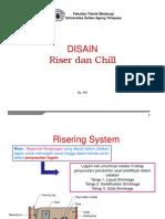 Pengecoran 4. Riser Dan Chill (PCR)