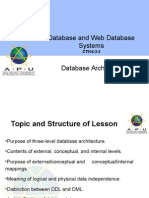Topic2 DatabaseArchitecture Aug14