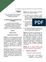 Dec Nal_1504_0000 Reglamenta Espacio Público