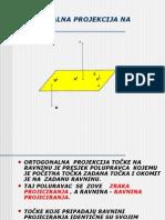 Ortogonalna Projekcija Na Ravninu