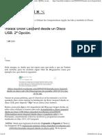 Instala Snow Leopard Desde Un Disco USB. 2ª Opción