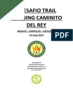 Informacion y Reglamento Del I Desafio Trail Running Caminito Del Rey.