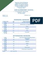 grade 2 schedule