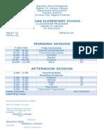grade 6 schedule