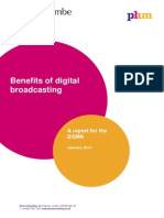 Benefits of Digital Broadcasting. Plum Consulting. Jan 2014