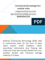 ECB /external commercial boorwings by Csgaurav9990694230