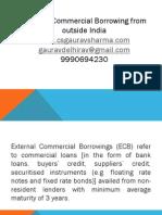 ECB /external commercial boorwings by Csgaurav9990694230