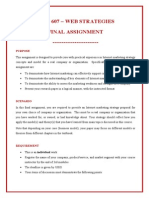 MCO 607 - Final Assignment and Marking Guide (Dec 2014)