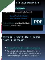 "Plani i Biznesit n.t.sh. ""Euroklima"""