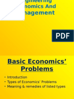 Basic Economics Problems