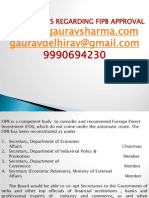 FIPB Approval Process From Cs Gaurav 9990694230