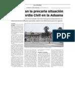 150430 La Verdad- Denuncian La Precaria Situación de La Guardia Civil en La Aduana