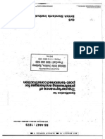 BS 4447;1973 the Performance of Prestressing Anchorages for Post-tensioned Construction