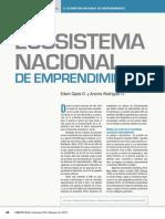 el ecosistema nacional del emprendimiento